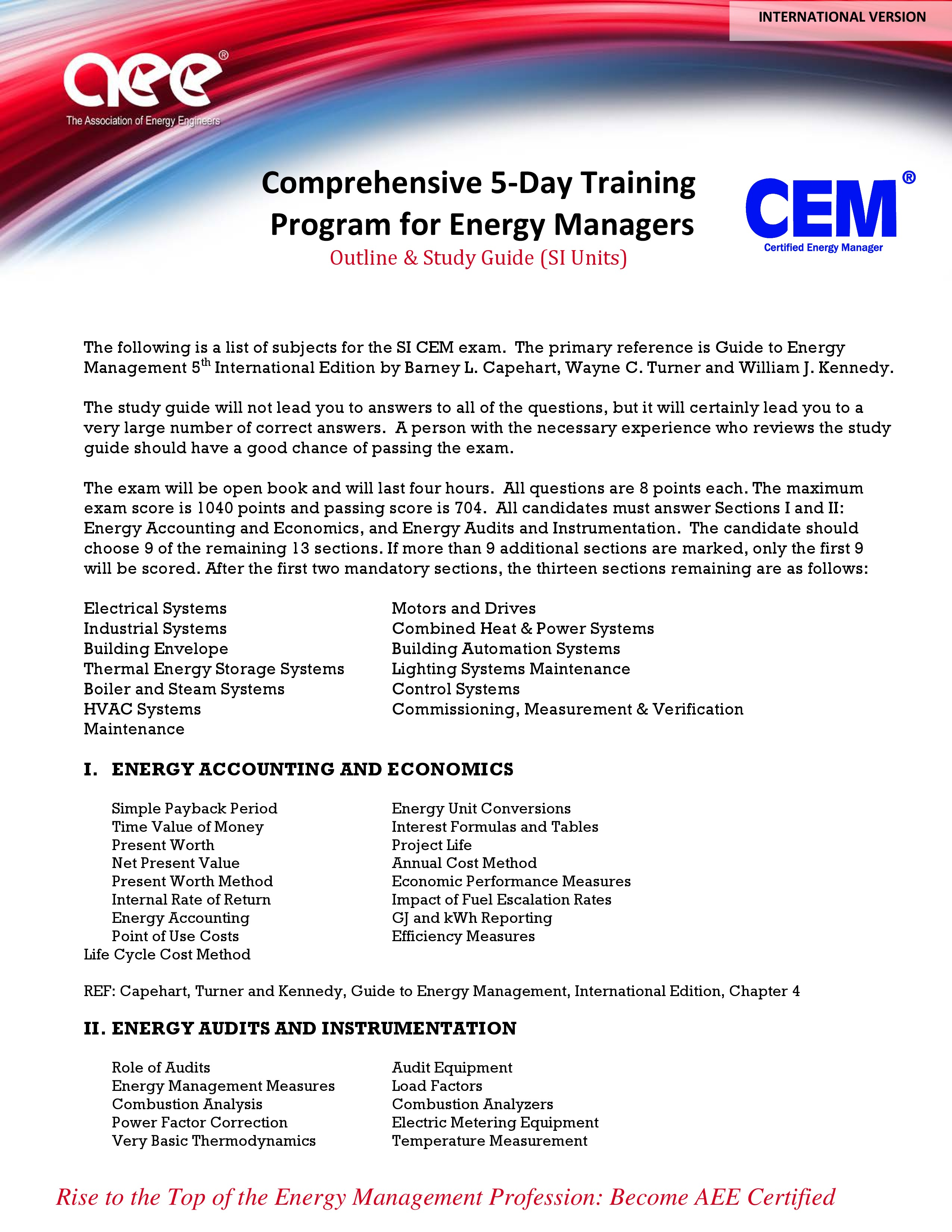 cem international association of energy engineers rh portal aeecenter org Energy Audit Companies Home Energy Audit Certification